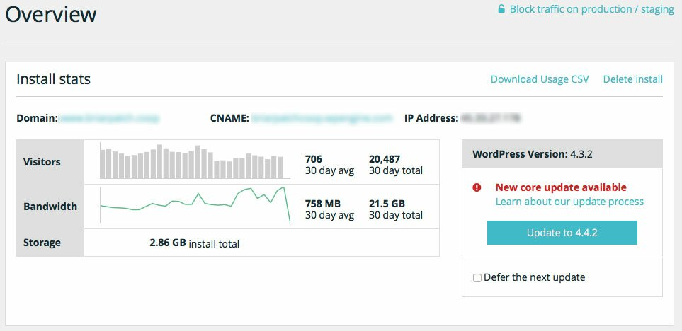 wp engine ip address hosting go daddy dns