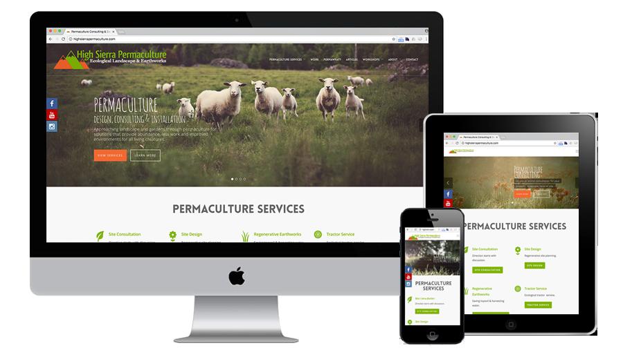 High Sierra Permaculture's Wordpress Website Development